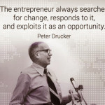 The entrepreneur always searches for change